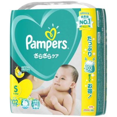 P&G Pampers(パンパース) さらさらケア テープ Sサイズ(4kg-8kg) 102枚〔おむつ〕 パンパーステープウルトラエス(10