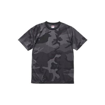 [ユナイテッド アスレ] 4.1ozドライアスレチックカモフラTシャツ メンズ 590601 ブラックウッドランド 日本 XL (日本サイズXL相当)