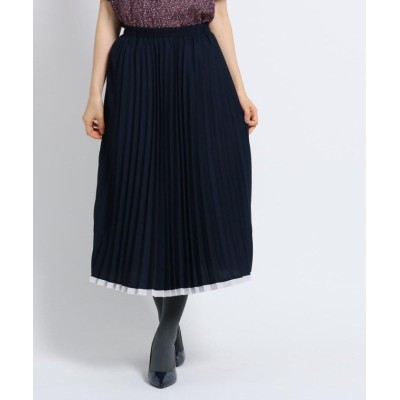【スーナウーナ】 アコーディオンプリーツスカート レディース ネイビー 38(M) SunaUna