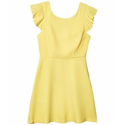 BCBジェネレーション レディース ワンピース トップス Cocktail Back Ruffle Woven Dress Lemonade