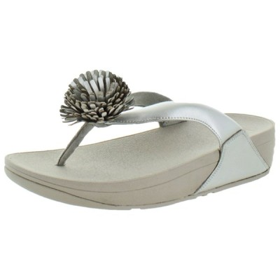 サンダル フィット フロップ FitFlop Women's Flowerball Leather Toe Post Flip Flop Sandals