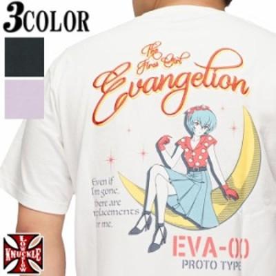 エヴァンゲリオン Evangelion ローブロー コラボ 綾波 レイ ピンナップガール 三日月 刺繍 Tシャツ 半袖 メンズ 551360 送料無料