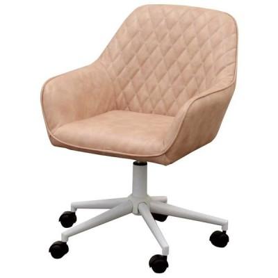 椅子 デスクチェア ワークチェア CL-360 ピンク色 組立式 360度回転 キャスター付 タブチェア