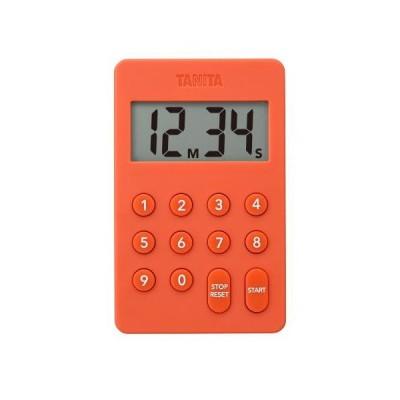 タニタ デジタルタイマー オレンジ TANITA デジタルタイマー100分計 TD-415-OR 返品種別A