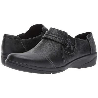 クラークス Cheyn Madi レディース ローファー Black Tumbled Leather