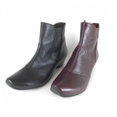 VIGEVANO 靴 VIGEVANO ブーツ 7043 ショートブーツ ローヒール 幅広 甲高 4E 外反母趾 柔かい革 履きやすいブーツ レディース 歩きやすいブーツ 中高年 オシャレ