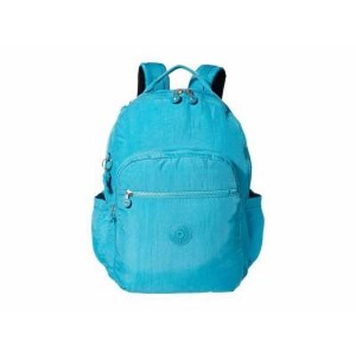 キプリング レディース バックパック・リュックサック バッグ Seoul XL Laptop Backpack Turquoise Sea