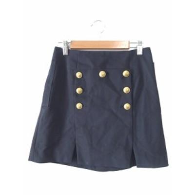 【中古】グリード インターナショナル GREED International スカート 台形 ミニ S 紺 ネイビー /SO1 レディース