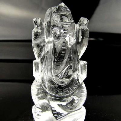 ガネーシャ 置物 ヒマラヤ水晶 ヒマラヤ ガネッシュヒマール産 ガネーシャ像 天然石 パワーストーン 浄化 お守り インテリア クォーツ クリスタル 手彫り