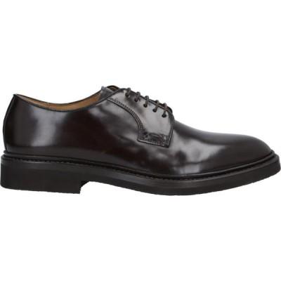 キートン KEATON メンズ 革靴・ビジネスシューズ シューズ・靴 Laced Shoes Dark brown