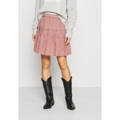 メイドウェル スカート レディース ボトムス SMOCKED MINI SKIRT  - Mini skirt - pale dawn