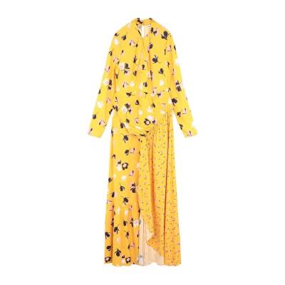 SELF-PORTRAIT ロングワンピース&ドレス イエロー 4 レーヨン 96% / ポリウレタン 4% ロングワンピース&ドレス