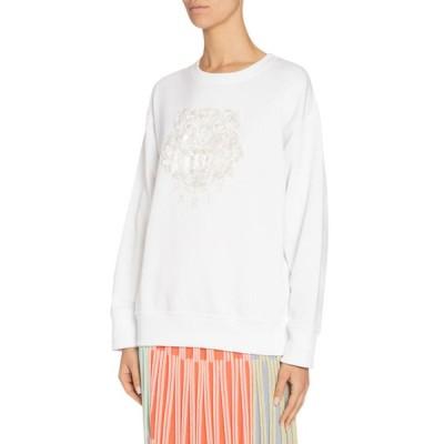 ケンゾー レディース ニット・セーター アウター Embellished Tiger Logo Sweatshirt