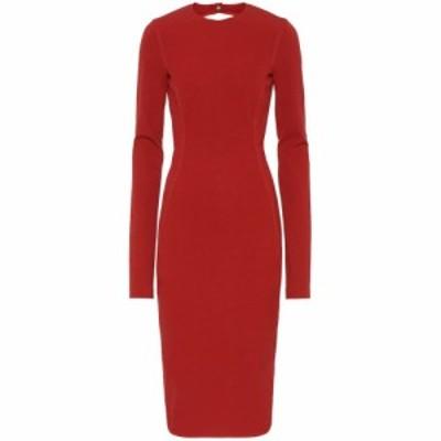 リック オウエンス Rick Owens レディース ワンピース ワンピース・ドレス Sade cotton-blend dress Cardinal Red