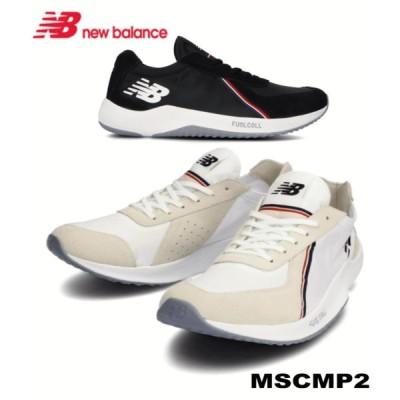 ニューバランス メンズ スニーカー スーパーコンプ2 運動靴 ランニングシューズ 男性 ブラック ホワイト レッド トリコロール 白 黒 健康 通勤 通学 SC SB