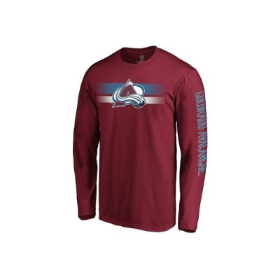 マジェスティック Tシャツ トップス メンズ Colorado Avalanche Men's Halftone Long Sleeve T-Shirt Maroon