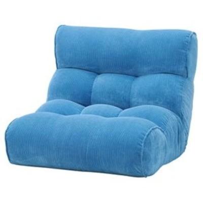 ソファー座椅子/フロアチェア 【ブルー】 ワイドタイプ 41段階リクライニング 『ピグレット2nd-コーデュロイ』【代引不可】【同梱不可】[▲][TP]