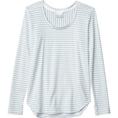 コロンビア Columbia レディース 長袖Tシャツ トップス Firwood Camp Long Sleeve Tee White Medium Stripe