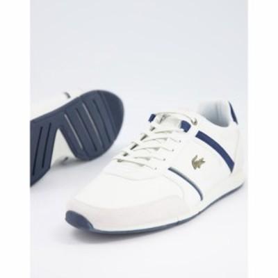 ラコステ Lacoste メンズ スニーカー シューズ・靴 menerva runner trainers in white ホワイト