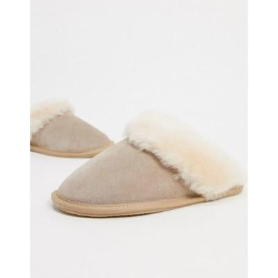 エイソス レディース サンダル シューズ ASOS DESIGN Zeus premium sheepskin slippers in cream Cream