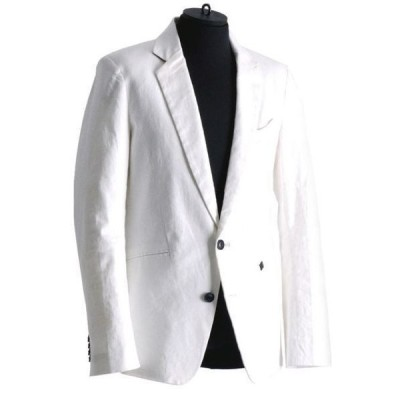 ジャケット テーラードジャケット 【REGIEVO】ストレッチリネン上質な大人のテーラードジャケット セットアップ