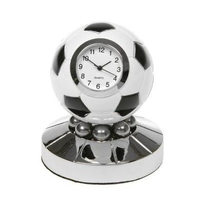 Football Clock - (Techno Black and White Football Clock Globe)