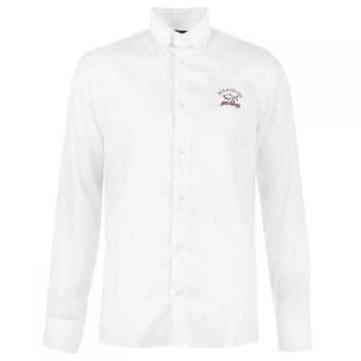 ポールアンドシャーク Paul And Shark Crew メンズ シャツ トップス Sleeve Shirt White