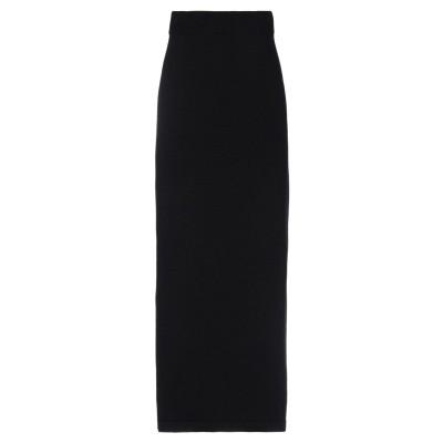 N.O.W. ANDREA ROSATI CASHMERE ロングスカート ブラック XS カシミヤ 100% ロングスカート