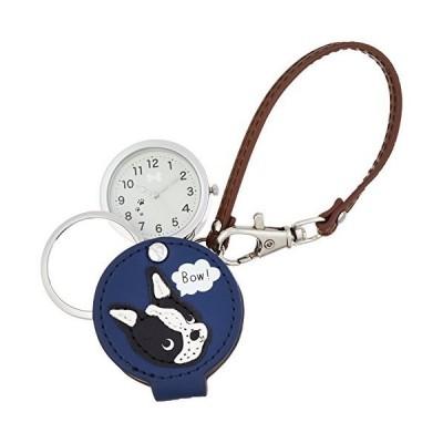 [フィールドワーク] 懐中時計 アナログ ボストンテリア バッグチャーム 時計 ルーペ 付き LW050-3 レディース