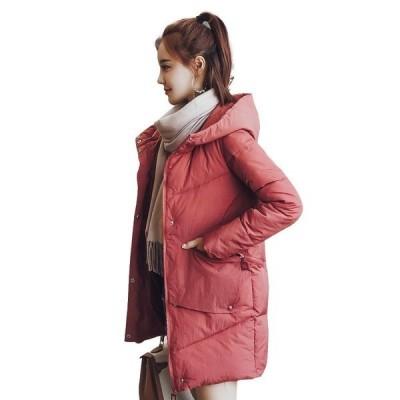 レディース 韓國 中綿コート ロングコート ジャケット コート フード付き防寒 カジュアル  シルエット  ゆったり