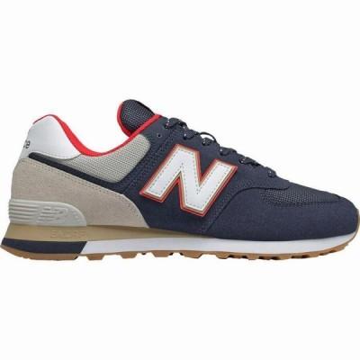 (取寄)ニューバランス メンズ 574 メッシュ シューズ New Balance Men's 574 Suede MeshShoe NB Navy/Energy Red