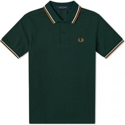 フレッドペリー Fred Perry Authentic メンズ ポロシャツ トップス slim fit twin tipped polo Evergreen/Snow