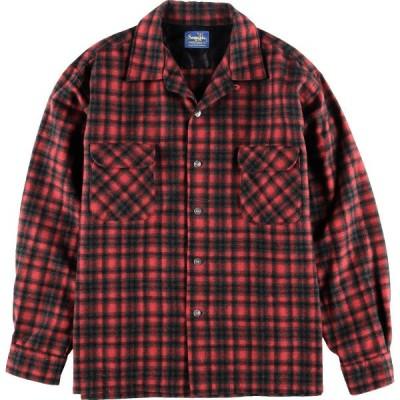 60年代 Sequoia ウールボックスシャツ 日本製 メンズXL /wbj5541