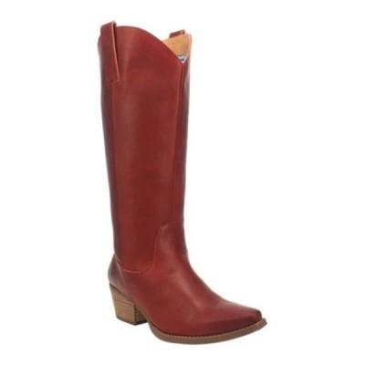 ディンゴ ブーツ&レインブーツ シューズ レディース Bonanza DI 257 Tall Western Boot (Women's) Red Burnished Leather