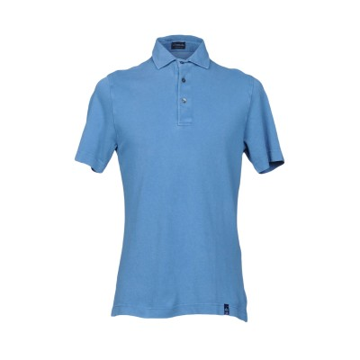 ドルモア DRUMOHR ポロシャツ ブルー XXL コットン 100% ポロシャツ