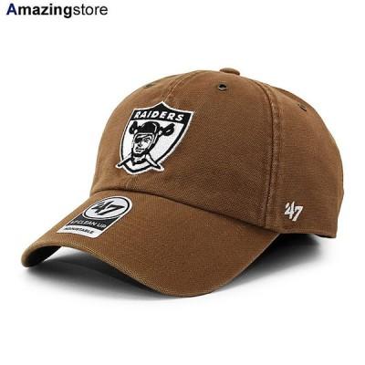47ブランド カーハート ラスベガス レイダース 【CARHARTT NFL LEGACY CLEAN UP STRAPBACK CAP/BROWN】 47BRAND LAS VEGAS RAIDERS