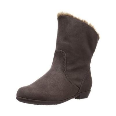 ヴェリココ ブーツ ブーティ 19.5~27.0cm 折り返し2wayファーブーツ(2cmヒール) グレースエード調 20 cm
