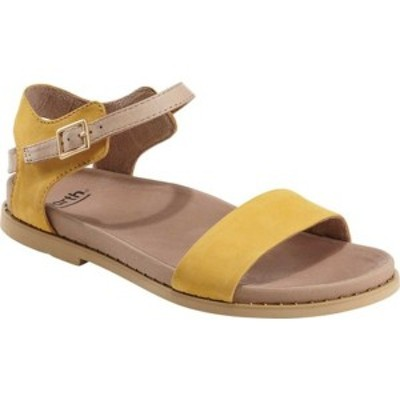 アース レディース サンダル シューズ Grove Cameo Ankle Strap Sandal Yellow Leather