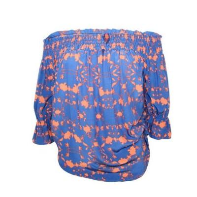 レディース 衣類 トップス Atina Cristina Womens Off The Shoulder Smocked Top ブラウス&シャツ