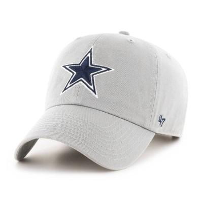 フォーティーセブン メンズ 帽子 アクセサリー '47 Men's Dallas Cowboys Adjustable Grey Hat