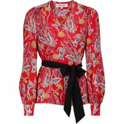 ダイアン フォン ファステンバーグ Diane von Furstenberg レディース ブラウス・シャツ トップス hesy silk crepe de chine wrap blouse