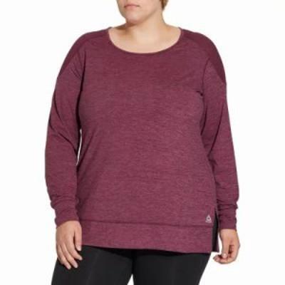 リーボック ブラウス・シャツ Plus Size 24/7 Jersey Long Sleeve Shirt Dd Pacific Purp/Tw Berry