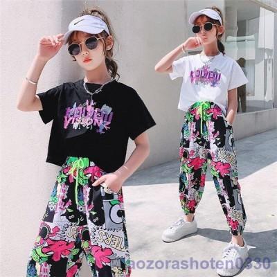 子供服 セットアップ キッズ 女の子 半袖 2点セット 上下セット Tシャツ 薄手 ハーフパンツ おしゃれ カジュアル 涼しい 可愛い
