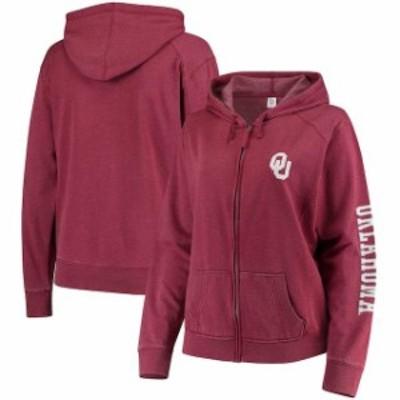 Boxercraft ボクサークラフト スポーツ用品  Oklahoma Sooners Womens Crimson Plus Size Homecoming Full-Zip Hoodie