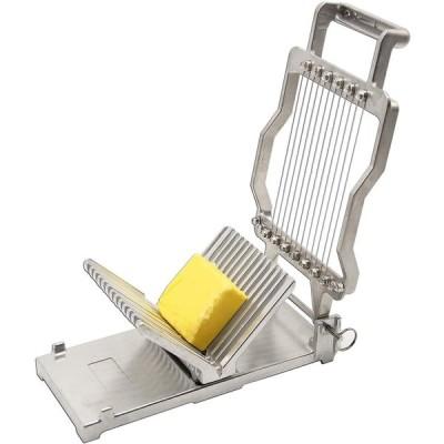 市販のステンレス鋼1cm&2cmチーズスライサーチーザーバターボード、デザートカッティングワイヤーブレード耐久性のある製造調理キッチンベーキングツール