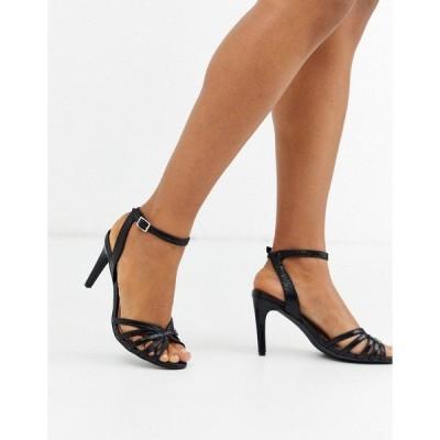 ヴェロモーダ レディース ヒール シューズ Vero Moda strappy heeled sandals Black