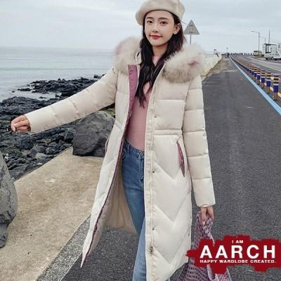 大きいサイズ ダウンコート アウター レディース ファッション ぽっちゃり おおきいサイズ あり ファー付きフード 中綿 ロング丈 防寒 M L LL 3L 4L 秋冬
