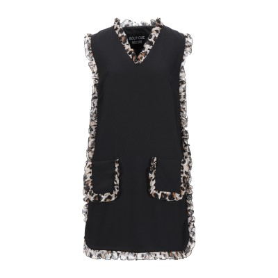BOUTIQUE MOSCHINO ミニワンピース&ドレス ブラック 42 ポリエステル 100% ミニワンピース&ドレス
