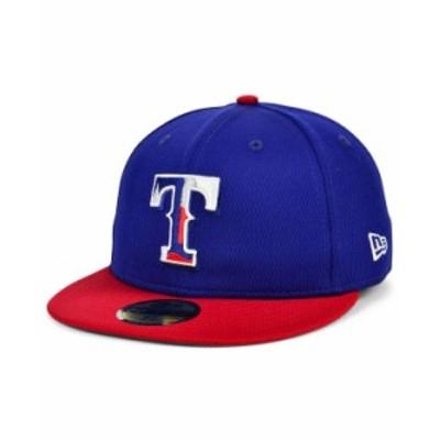 ニューエラ メンズ 帽子 アクセサリー Texas Rangers 2020 Men's Batting Practice Fitted Cap LightNavy/Red