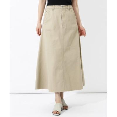[Aga] カラーデニム フレアスカート